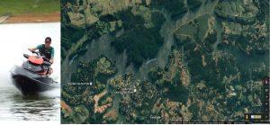 Een van de mogelijkheden van het resort: Jetskiën over grote afstanden
